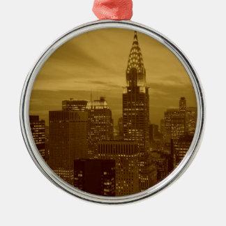 Vintage New York Manhattan Kerst Ornamenten