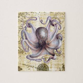 Vintage octopus puzzel