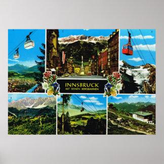 Vintage   Oostenrijk, Innsbruck multiview Poster
