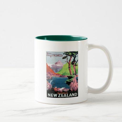 Vintage Otago Nieuw Zeeland Koffie Mokken