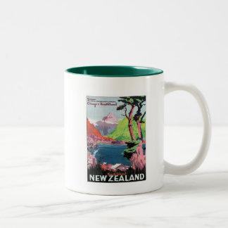 Vintage Otago Nieuw Zeeland Tweekleurige Mok
