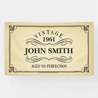 Vintage Oud aan de Verjaardag van de Perfectie Spandoek