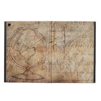 Vintage Oude Rustieke Bruin van de Wereld, iPad iPad Air Hoesje