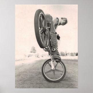 Vintage oude school BMX Poster