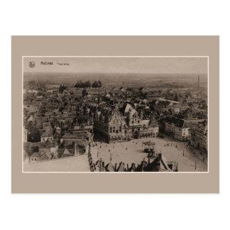 Vintage Panorama Mechelen Briefkaart