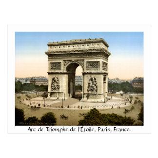Vintage Parijs Frankrijk, Arc DE Triomphe Briefkaart