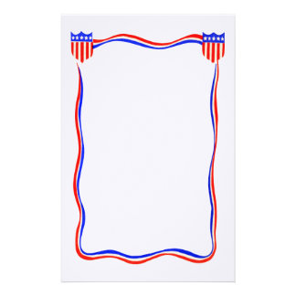Vintage Patriottische Rode, Witte en Blauwe Briefpapier