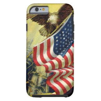 Vintage Patriottisme, de Amerikaanse Vlag van