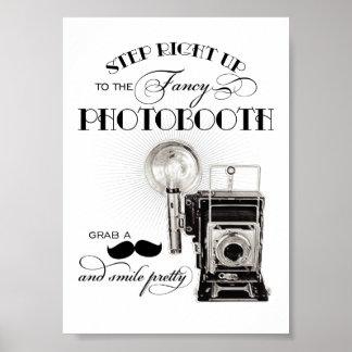 Vintage Photobooth Teken | de Druk van de Poster