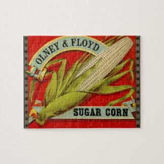 Vintage Plantaardig Etiket, het Graan van de Legpuzzel