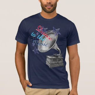 Vintage Platenspeler T Shirt
