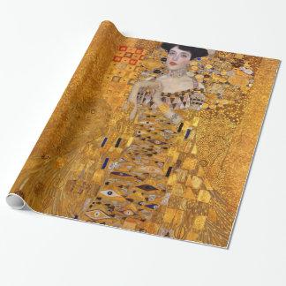 Vintage Portret van Adele Gustav Klimt GalleryHD Cadeaupapier
