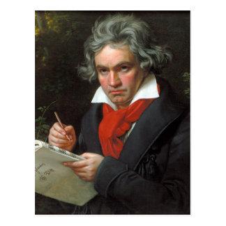 Vintage portret van componist, Ludwig von Briefkaart