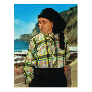 Vintage Portugal, Nazare, Visser Briefkaart