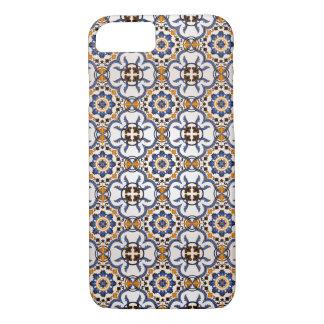 Vintage Portugees Blauw Geel Patroon Azulejo iPhone 8/7 Hoesje
