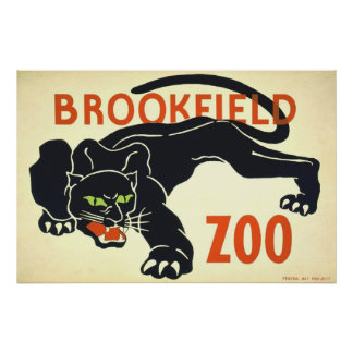 Vintage Posters, de Zwarte Panter WPA van de Diere Poster