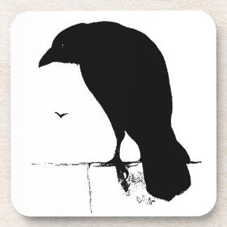 Vintage Raaf - de Aangepaste Raven van de Kraaien Bier Onderzetters