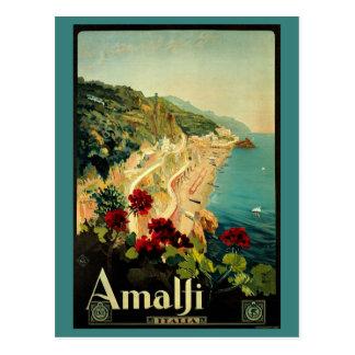 Vintage Reis, Amalfi het Italiaanse Strand van de Briefkaart