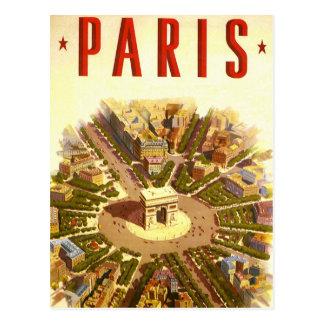 Vintage Reis, Arc DE Triomphe Parijs Frankrijk Briefkaart