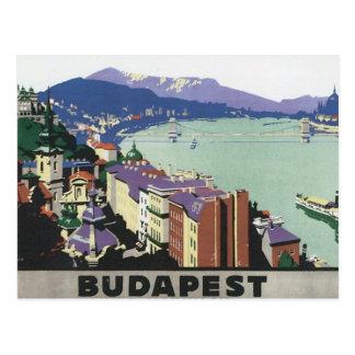 Vintage Reis Boedapest Hongarije Briefkaart