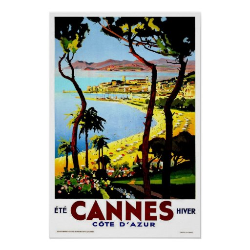 Vintage reis, Cannes Afdruk