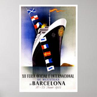 Vintage reis, de Internationale Markt van Poster
