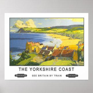 Vintage Reis, de Kust van Yorkshire Poster