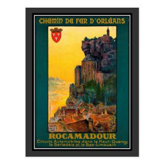 Vintage reis Frankrijk, Rocamadour - Briefkaart