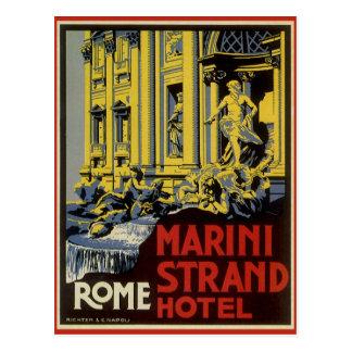 Vintage Reis, het Hotel van de Bundel Marini, Briefkaart