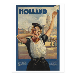 Vintage Reis Holland door Trein Briefkaart
