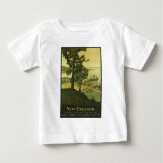 Vintage-reis-poster-nieuw-Engeland-V.S.-2 Baby T Shirts