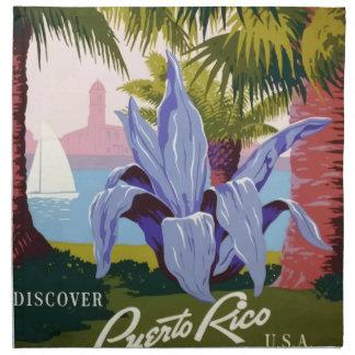 Vintage Reis Puerto Rico Katoenen Servet