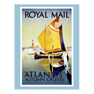 Vintage Reis Royal Mail Atlantis Briefkaart
