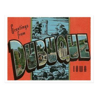 Vintage Reproductie Dubuque, Iowa Briefkaart