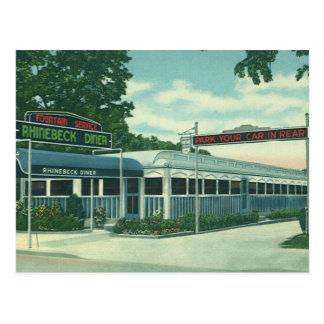 Vintage Restaurant, Retro Diner van de Kant van de Briefkaart