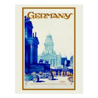 Vintage retro de reisadvertentie van Berlijn Briefkaart