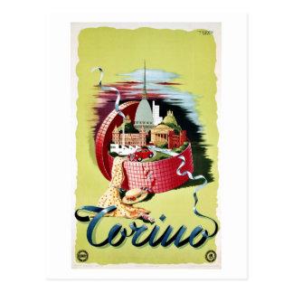 Vintage retro Italiaanse de reisadvertentie van Briefkaart