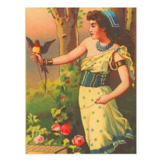 Vintage Retro Mooie Vrouw met de Kaart van de