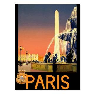 Vintage retro reisbriefkaart Frankrijk Parijs Briefkaart