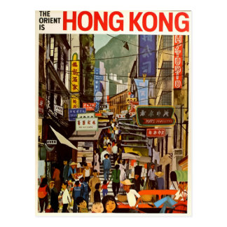Vintage retro reisbriefkaart Hong Kong Azië Briefkaart