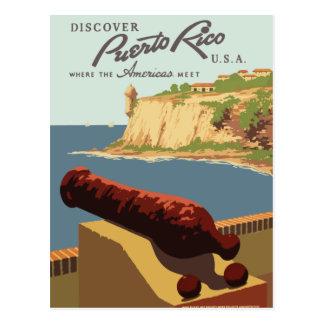 Vintage retro reisbriefkaart Puerto Rico Briefkaart