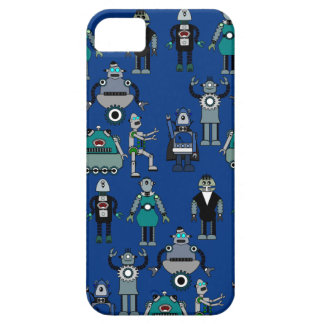 Vintage Retro Robots Steampunk - geek ontwerp Barely There iPhone 5 Hoesje