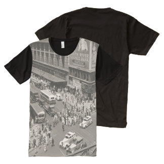 Vintage Retro Straat All-Over-Print T-shirt