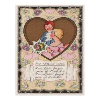 Vintage Retro Victoriaans Ca van Valentijn van de Briefkaart