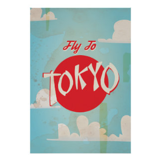 Vintage Retro Vlieg aan het Poster van de Reis van