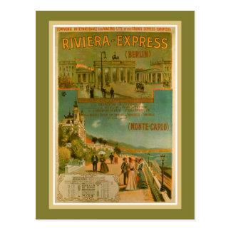 Vintage Riviera Uitdrukkelijk Berlijn Amsterdam Briefkaart