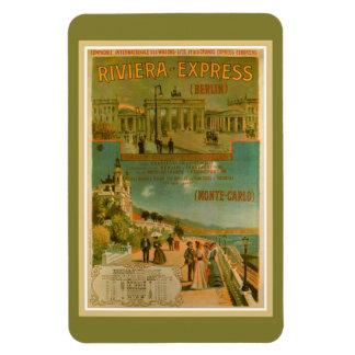 Vintage Riviera Uitdrukkelijk Berlijn Amsterdam Rechthoekige Magneten