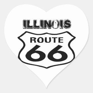 Vintage Route 66 van de sticker het Versleten Hart