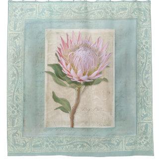 Vintage Roze Elegant van de Bloem van Protea van Gordijn 0