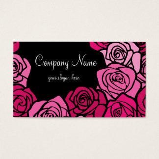 Vintage roze rozenVisitekaartje Visitekaartjes